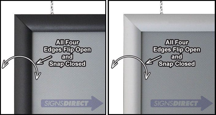 double sided hanging snap frames - Double Sided Frames