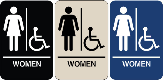 Need A Braille ADA Signs For Your Bathroom We Have Womens - Handicap bathroom sign