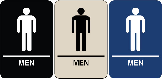 Need a braille ada signs we have men 39 s restroom signs Men women bathroom signs