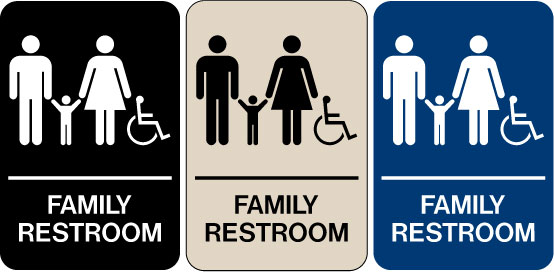 Need A Braille ADA Signs We Have Family Restroom