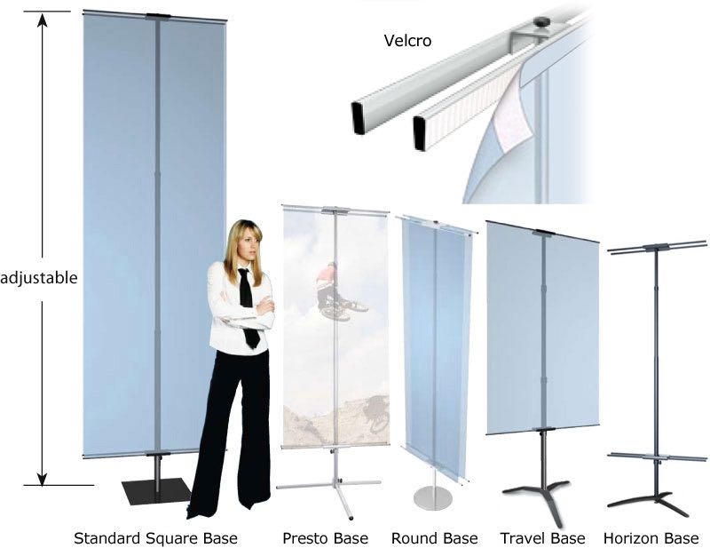 Quot Velcro Quot Mount Banner Or Graphic Stand With Adjustable Height