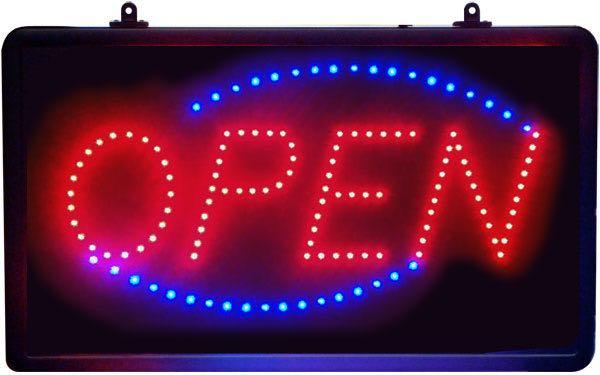 Led Open Sign Animated Oval Window Led Sign