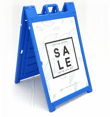The Signicade Deluxe Sidewalk Sign Stand is durable plastic a-frame ...
